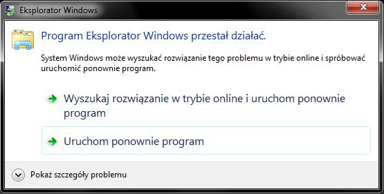 Explorator Windows przestał działać